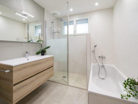 Salle de bain douche baignoire