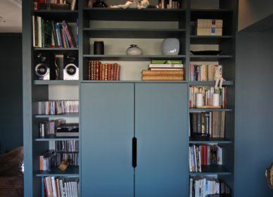 Bureau bibliothèque sur mesure