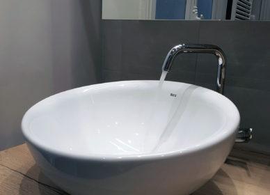 Salle de bains avec vasque bol