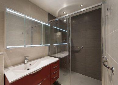 Salle de bains douche et toilettes