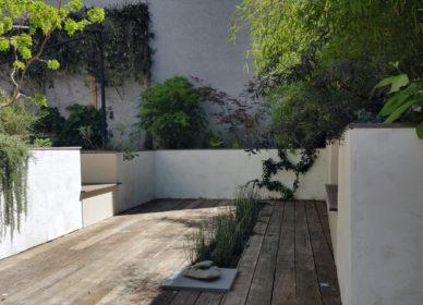 Terrasse en frêne thermo chauffé